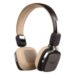 Auricular Onset Bluetooth Riff Negro Y Beige