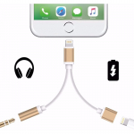 Cable Adaptador Lightning 2 En 1 Jack 3.5 Para Iphone 7 8 X