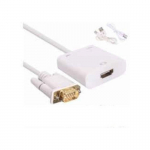 Cable Adaptador Conversor Vga M A Hdmi H Audio Video Generico – Blanco