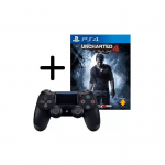 Control PS4 Dualshock 4 v2 – Negro + Uncharted 4: A Thiefs  End