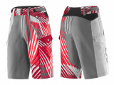 PTA LIV TANGLE BAGGY SHORTS GREY/RED