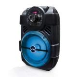 Amplificador Bluetooth recargable con luces, radio FM y 15W RMS