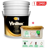 Combo Viniltex Advanced Caneca 5 Galones + Kit Especialidades Pintuco