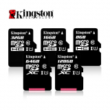 Memoria Micro SD XC Kingston 256GB Clase 10-Negro