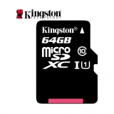 Memoria Micro SD XC Kingston 64GB Clase 10-Negro