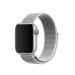 Sportbands Sport Band Loop para Apple Watch (Modelo: 38mm/40mm, Color: Gris/Blanco)