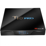 TV BOX T10 Pro 4+64GB Android 8.1 S905X2-Negro
