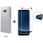 Samsung – Pack Protector Case Clear Protective Cover Oficial Samsung Galaxy + Vidrio Templado 3D Glass Compatible S8 (5.8″) – Silver