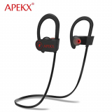 APEKX Bluetooth Earbuds Sport Wireless Headphones Noise Cancelling In-Ear