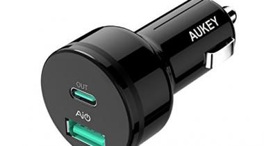 AUKEY CC-Y7 Power Delivery 27W USB-C & 5V/2.4A USB Dual Port