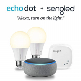 Echo Dot (3rd Generation) + 2 Smart Bulb Kit by Sengled
