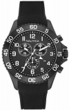 Nautica Chronograph NST 19  Black Silicone Strap Watch NAD17506G