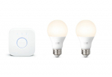 Kit de inicio Philips Hue White A19 60W , funciona con Amazon Alexa, Google Home y Apple HomeKit