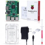 Raspberry Pi 3 Starter Kit con Raspberry Pi 3 Model B Case, Heatsink y Power Supply