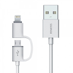 Cable ROMOSS 2-in-1: Lightning and Micro USB