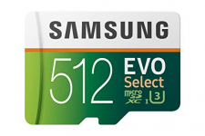 Samsung 512GB 100MB MicroSD Evo Select Memory Card & Adapter (MB-ME512GA/AM)