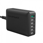 USB Quick Charger RAVPower Quick Charge 3.0 60W 6-Port USB Power Strip Desktop Charger