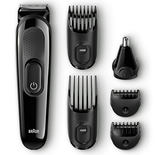 braun multi grooming kit mgk3020 6 in 1 hair beard trimmer for men face and head trimming. Black Bedroom Furniture Sets. Home Design Ideas
