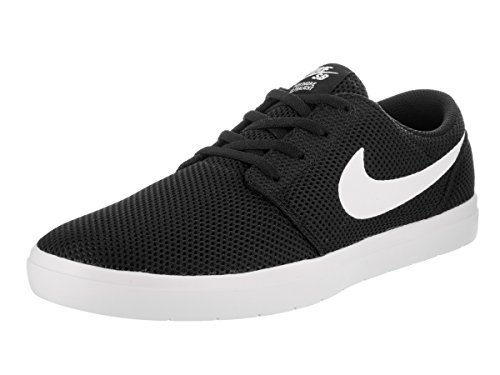 newest 23084 87439 nike-mens-sb-portmore-ii-ultralight-blackwhite-skate-shoe-95-men-us.jpg