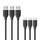 [3 Pack] Anker PowerLine USB-C to USB 3.0 Cable