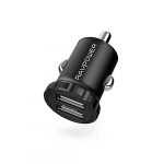 Cargador para carro mini RAVPower 24W dual usb