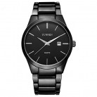 ALPS Mens Simple Black Stainless Steel Calendar Chronograph Wrist Watch