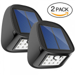 Aptoyu Solar Motion Sensor Lights 10 LED Outdoor Waterproof x2