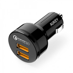 Aukey CC-T8 Car Charger with Dual Quick Charge 3.0 Ports