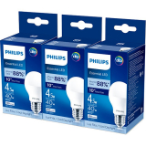 Bombillo Led 4.5W 480Lm Luz Fría Philips Packx3