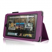 Case for Fire HD 8 – Premium Folio Case with Stand for the Fire HD 8, 8″ Display (2015 and 2016 Release) – Purple