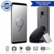 Samsung Galaxy S9 Gris DS 4G + Battery Pack + Wireless Stand Charger + Cover