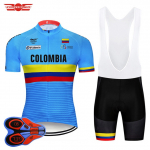Crossrider 2018 Blue Colombia Cycling Jerseys Set MTB