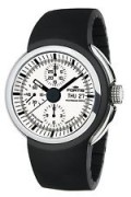 Fortis Men's 661.20.32 K Spaceleader Automatic Chrono Black Silicone Band Watch