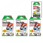 Fujifilm Instax Mini Instant Film (3 Twin packs, 60 Total) for Instax Cameras