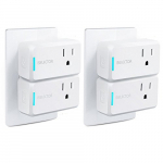 ISELECTOR Mini Smart Plug Wi-Fi 4-Pack