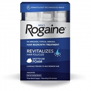 Men's Rogaine Hair Loss – Hair Thinning Treatment Minoxidil Foam, Three Month Supply