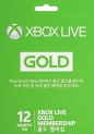 Microsoft Xbox Live 12 Month Gold Card