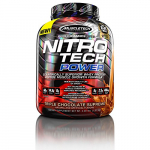 MuscleTech Nitro Tech Power Whey Protein Powder Musclebuilding Formula, Triple Chocolate Supreme