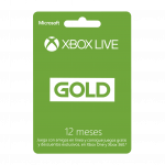 Pin Virtual XBOX LIVE GOLD 12 Meses