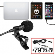 Professional Grade Lavalier Lapel Microphone ­ Omnidirectional Mic