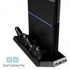PS4 Vertical Stand Controller Charger with Cooling fan, Jelly Comb PlayStation 4 Charging Station with Dual Charger, Best PS4 Cooler Accessories with USB HUB – Black