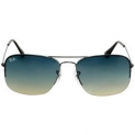 Ray-Ban Flip Out Alloy Glossy Black Sunglasses Blue Lens