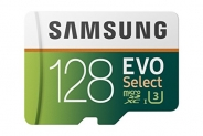 Samsung 128GB MicroSDXC EVO Select Memory Card with Adapter