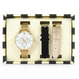 Set Reloj Dama + 2 Correas Intercambiables