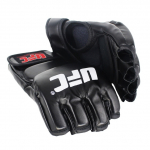SUOTF Black Fighting MMA Boxing Sports Leather Gloves