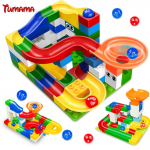Tumama 52pcs DIY Construction Marble Race Run