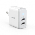 [Upgraded] Anker 24W Dual USB Wall Charger, PowerPort 2 with Power IQ
