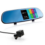 Vantrue N3 Dual dash cam 5 Inch IPS Touch Screen Full HD 1080P Rear view Mirror Dash Cam and IP 67 Car Reverse Backup Camera with Low light level